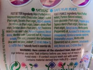 Ingredienten foot