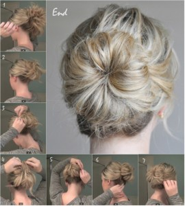 mid-knot-hairstyle-tutorial-with-clip-on-remy-and-cheap-blonde-hair-extensions (Medium)